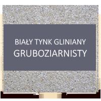tynk gliniany gruboziarnisty bialy