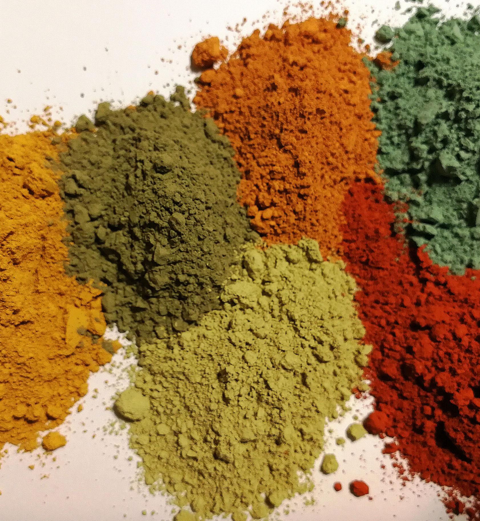 farby z gliny